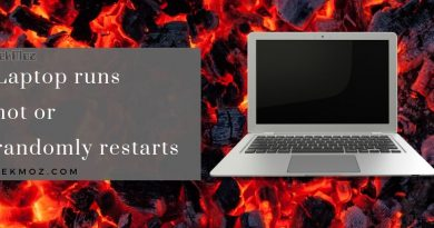 Laptop runs hot or randomly restarts