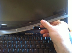 Removing-a-laptop-hinge-plate-cover