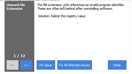 Backup Registry CCleaner - fix all issues dialogue box image