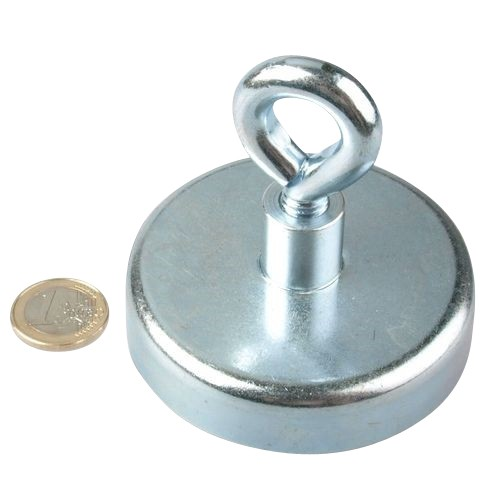 A rare-earth neodymium magnet used for magnet fishing