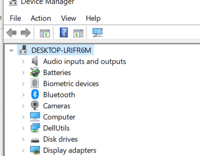 usb mouse not working on laptop- Device Manager showing manual navigation